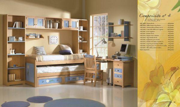 Dormitorio juvenil rustico colonial